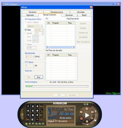 DVT-Player screen