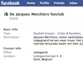 Studentenfanclub op Facebook